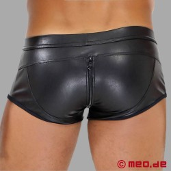 Fetish Sexy Full-Zip Leather Boxers TOF Paris