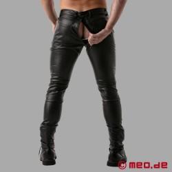 Pantalon en cuir Gay Fetish Full Zip de TOF Paris