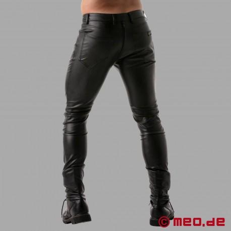 Pantalon en cuir Fetish Full Zip de TOF Paris