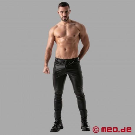 Pantaloni di pelle Fetish Full Zip TOF Paris