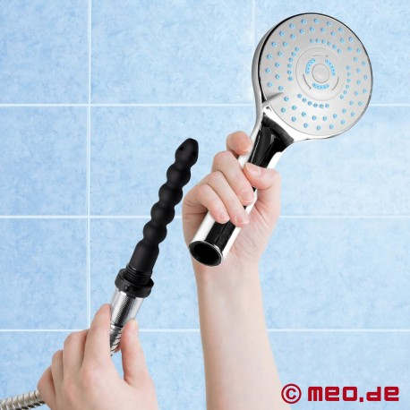 Shower head with integrated anal douche