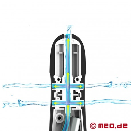 Clistere anale da doccia automatico a 360°