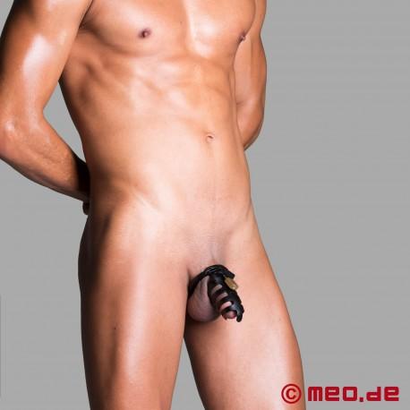 Cintura di castità in metallo per uomo - gabbia per pene richiudibile