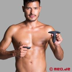 Plug anale segreto con 12 modalità di vibrazione/spinta e telecomando