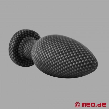 Plug anale in silicone effetto carbonio - Small