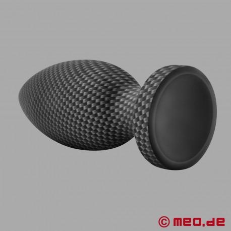 Plug anale in silicone effetto carbonio - Medium